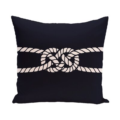 Hancock Carrick Bend Geometric Throw Pillow Color: Navy Blue, Size: 18