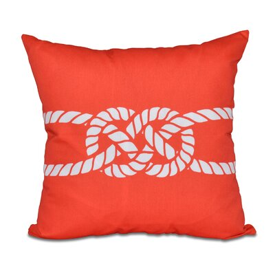 Hancock Carrick Bend Geometric Throw Pillow Size: 18 H x 18 W, Color: Red/Orange