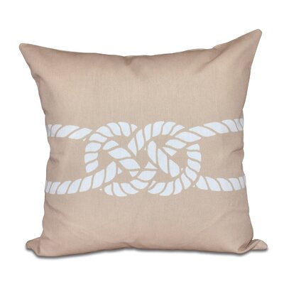 Hancock Carrick Bend Geometric Throw Pillow Size: 20 H x 20 W, Color: Beige/Taupe