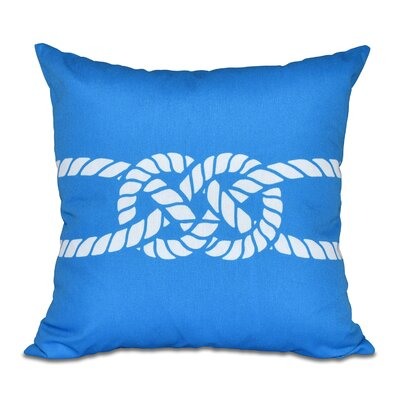 Hancock Carrick Bend Geometric Throw Pillow Size: 18 H x 18 W, Color: Blue
