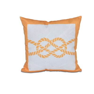 Hancock Nautical Knot Geometric Outdoor Throw Pillow Size: 18 H x 18 W, Color: Red