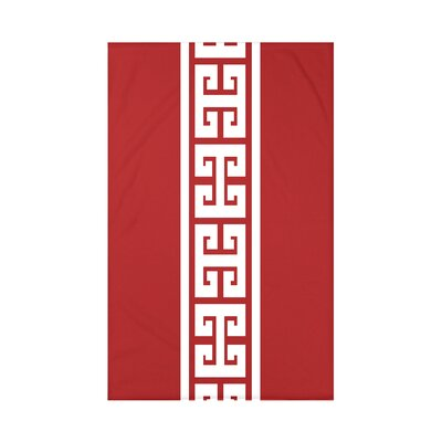 Hancock Key Stripe Throw Blanket Size: 60 L x 50 W x 0.5 D, Color: Red