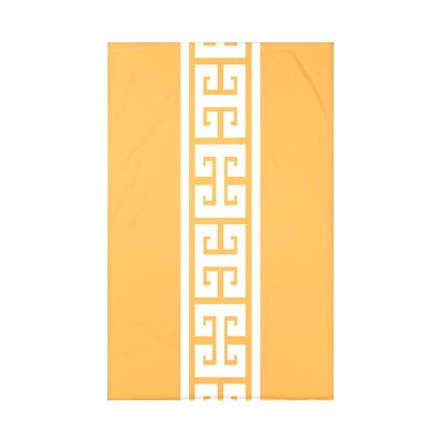 Hancock Key Stripe Throw Blanket Size: 60 L x 50 W x 0.5 D, Color: Yellow