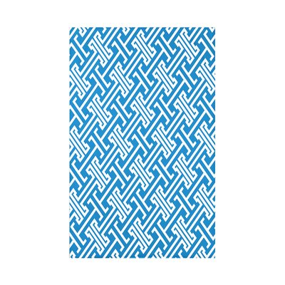 Hancock Leeward Key Geometric Throw Blanket Size: 60 L x 50 W x 0.5 D, Color: Blue