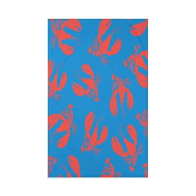 Hancock Lobster Fest Coastal Throw Blanket Size: 60 L x 50 W x 0.5 D, Color: Blue