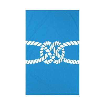 Hancock Carrick Bend Geometric Throw Blanket Size: 60 L x 50 W x 0.5 D, Color: Blue