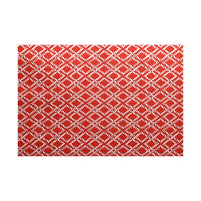 Hancock Red-Orange Indoor/Outdoor Area Rug Rug Size: 4 x 6