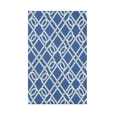 Hancock Know the Ropes Geometric Throw Blanket Size: 60 L x 50 W x 0.5 D, Color: Blue
