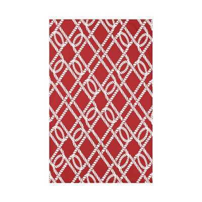 Hancock Know the Ropes Geometric Throw Blanket Size: 60 L x 50 W x 0.5 D, Color: Red