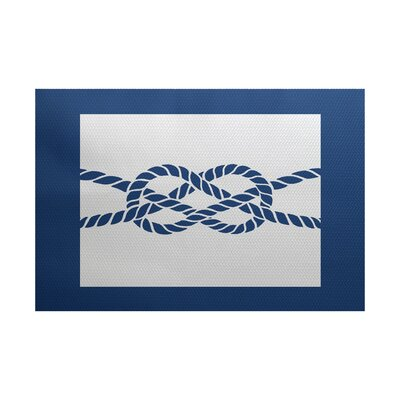 Hancock Blue Indoor/Outdoor Area Rug Rug Size: 3 x 5