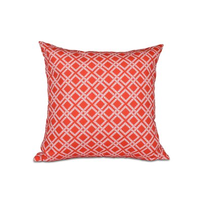 Hancock Rope Rigging Geometric Throw Pillow Size: 16 H x 16 W, Color: Red/Orange