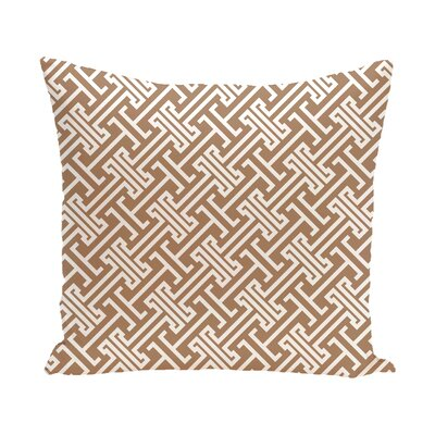 Hancock Leeward Key Geometric Outdoor Throw Pillow Size: 18 H x 18 W, Color: Beige/Taupe