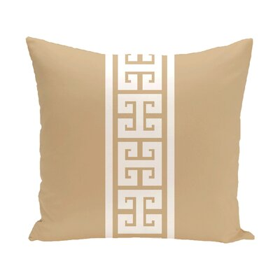Hancock Key Stripe Outdoor Throw Pillow Size: 18 H x 18 W, Color: Beige/Taupe