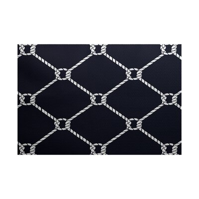 Bridgeport Navy Blue Indoor/Outdoor Rectangle Area Rug Rug Size: 5 x 7