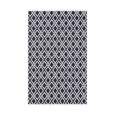 Hancock Rope Rigging Geometric Throw Blanket Size: 60 L x 50 W x 0.5 D, Color: Navy Blue