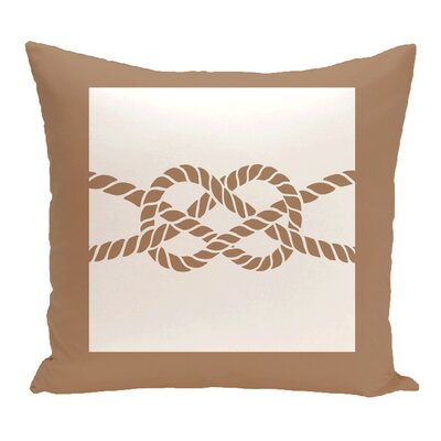 Hancock Nautical Knot Geometric Throw Pillow Color: Beige/Taupe, Size: 20 H x 20 W