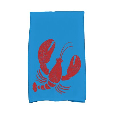 Bridgeport Lobster Hand Towel Color: Blue