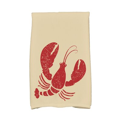 Hancock Lobster Hand Towel Color: Taupe/Beige