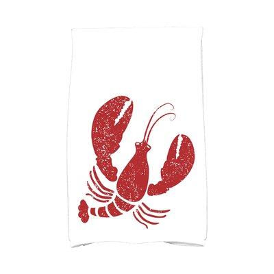 Bridgeport Lobster Hand Towel Color: White