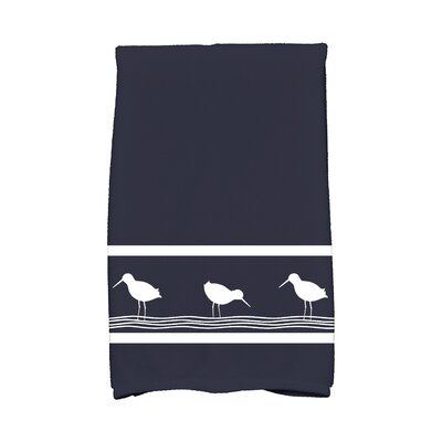 Bridgeport Birdwalk Hand Towel Color: Navy Blue