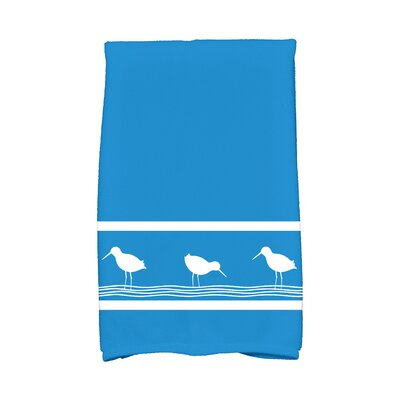 Bridgeport Birdwalk Hand Towel Color: Blue