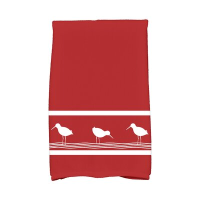 Bridgeport Birdwalk Hand Towel Color: Red