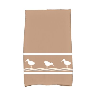 Bridgeport Birdwalk Hand Towel Color: Taupe/Beige