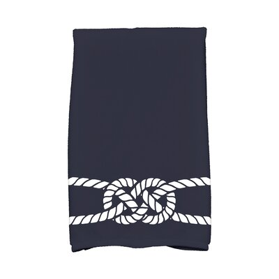 Hancock Carrick Bend Hand Towel Color: Navy Blue