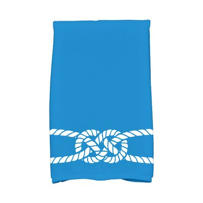 Hancock Carrick Bend Hand Towel Color: Blue