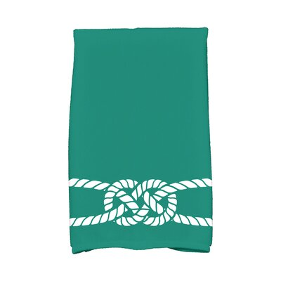 Hancock Carrick Bend Hand Towel Color: Green