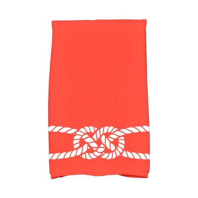 Hancock Carrick Bend Hand Towel Color: Red/Orange