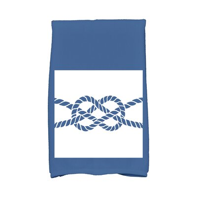 Hancock Knot Hand Towel Color: Blue