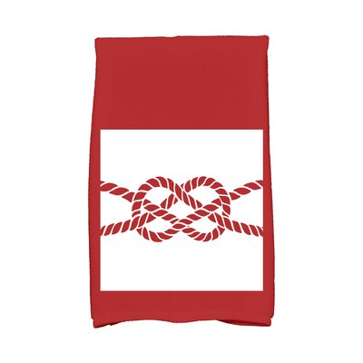 Hancock Knot Hand Towel Color: Red