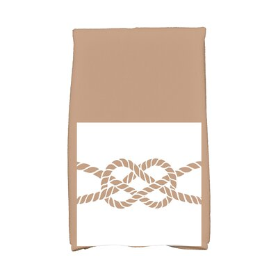Hancock Knot Hand Towel Color: Beige/Taupe