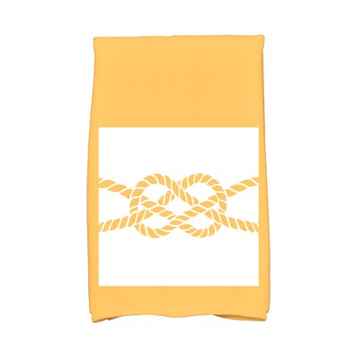 Hancock Knot Hand Towel Color: Yellow