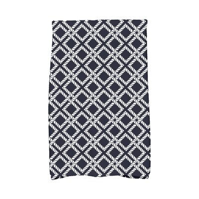 Hancock Rope Rigging Hand Towel Color: Navy Blue