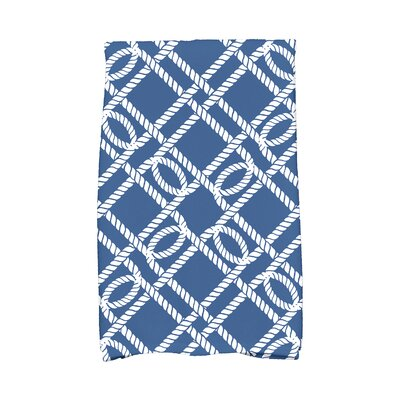 Bridgeport Know The Ropes Hand Towel Color: Blue