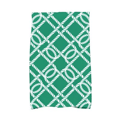 Bridgeport Know The Ropes Hand Towel Color: Green