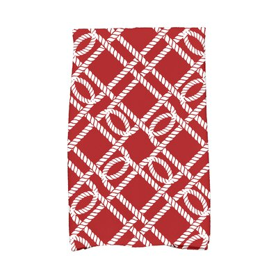 Hancock Know The Ropes Hand Towel Color: Red