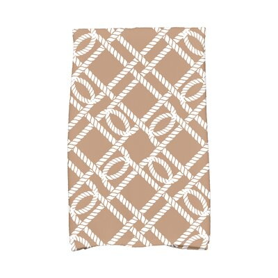 Bridgeport Know The Ropes Hand Towel Color: Beige/Taupe