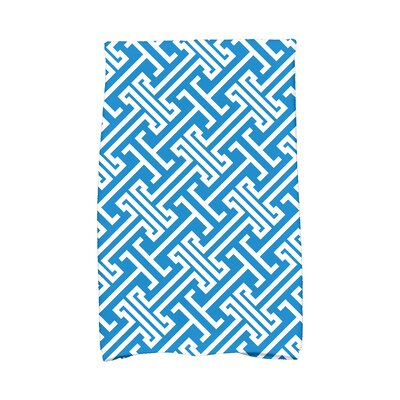 Hancock Leeward Key Geometric Print Hand Towel Color: Blue