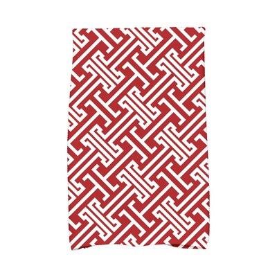 Hancock Leeward Key Geometric Print Hand Towel Color: Red