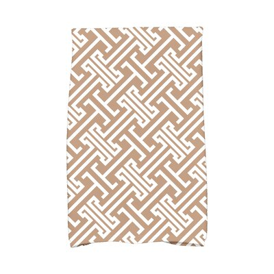 Hancock Leeward Key Geometric Print Hand Towel Color: Beige/Taupe