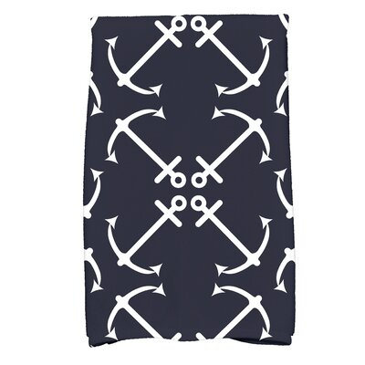 Hancock Anchors Up Print Hand Towel Color: Navy Blue
