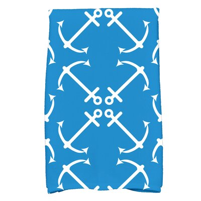 Hancock Anchors Up Print Hand Towel Color: Blue
