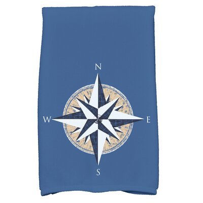 Hancock Compass Novelty Print Hand Towel Color: Blue