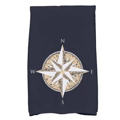 Hancock Compass Novelty Print Hand Towel Color: Navy Blue