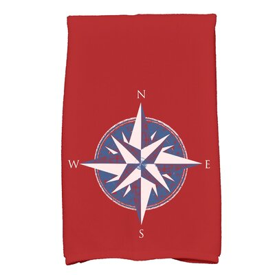Hancock Compass Novelty Print Hand Towel Color: Red