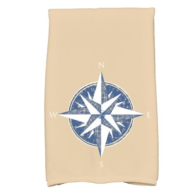 Hancock Compass Novelty Print Hand Towel Color: Taupe/Beige