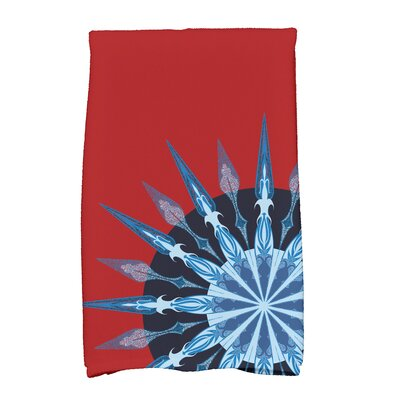 Hancock Sailors Delight Novelty Nights Print Hand Towel Color: Red